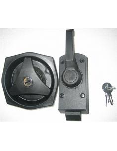 Cerradura para puerta con sistema de bloqueo interior y exterior