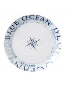 Prato plano Ø 25 cm de Oceano Azul Brunner melanina
