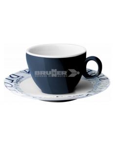10cl melanina xícara de café e conjunto de placa. Brunner do oceano azul
