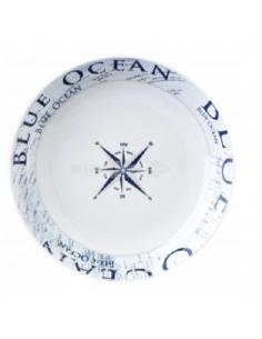 Plato hondo  Ø 21 cm de melanina Blue Ocean Brunner