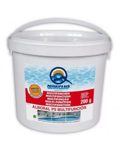 Cloro Multifunción Quimicamp pastillas 5kg. Sin sulfato de cobre LINER.