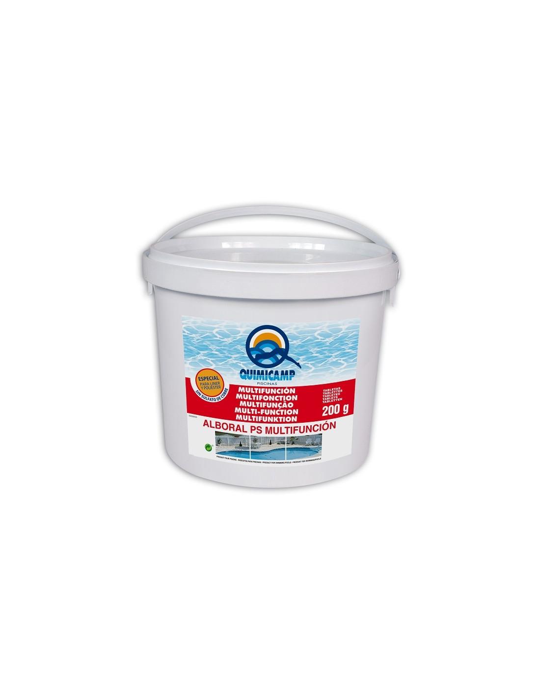 Tablettes de chlore multifonctions chimicamp 5kg liner - Anti algues piscine sulfate de cuivre ...