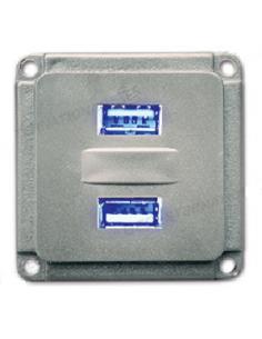 Toma de conexión 12V con doble salida USB Mobil Plus