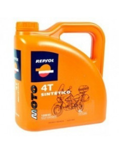 Huile synthétique Repsol Moto 4T - 4 litres