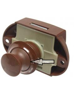 Botão marrom parafusado para fechar a caixa (Falleba)