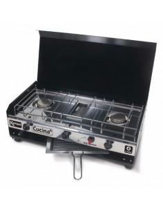 Cocina doble gas y parrilla Kampa