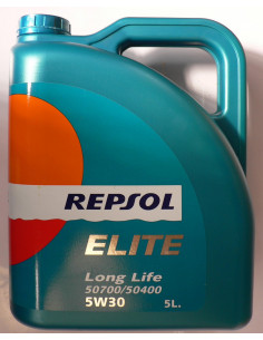 Repsol Evolution Long Life Car Oil - 5 Litros