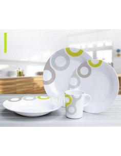 Utensílios de mesa de melamina Novara 16 peças