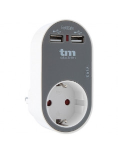 Carregador duplo USB rápido carregamento Tm Electron
