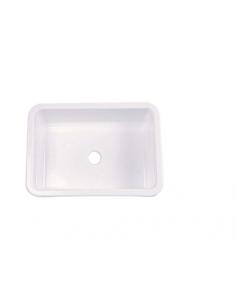 Lavabo/cubeta encastrable rectangular blanco 37x27 cm