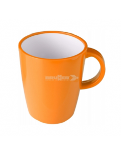 Grand verre de 30cl de mélanine Orange. Brunner