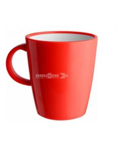 Taza grande 30cl de melanina Rojo. Brunner