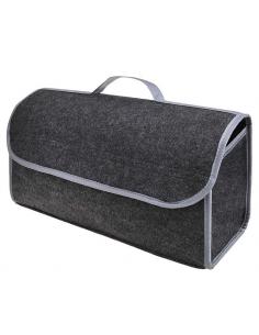 Organizador de saco dobrável para o compartimento de bagagem.