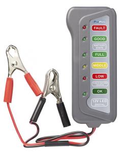 Comprobador tester de baterías a 12V