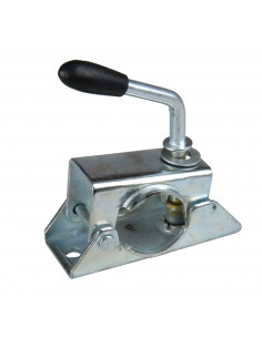 Attache de roue jockey Ø 35 poignée rigide avec manivelle