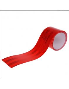 Fita reflexiva adesiva vermelha de 2 medidores