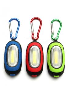 Porte-clés avec mini lampe de poche COB led 7 cm