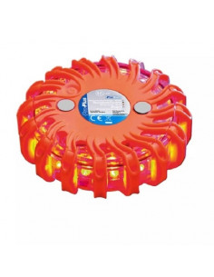 Linterna de emergencia circular luminoso 16 LED naranja Pro Plus