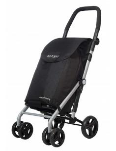 Carrinho de compras muito dobrável, preto Lett 430 Carlett