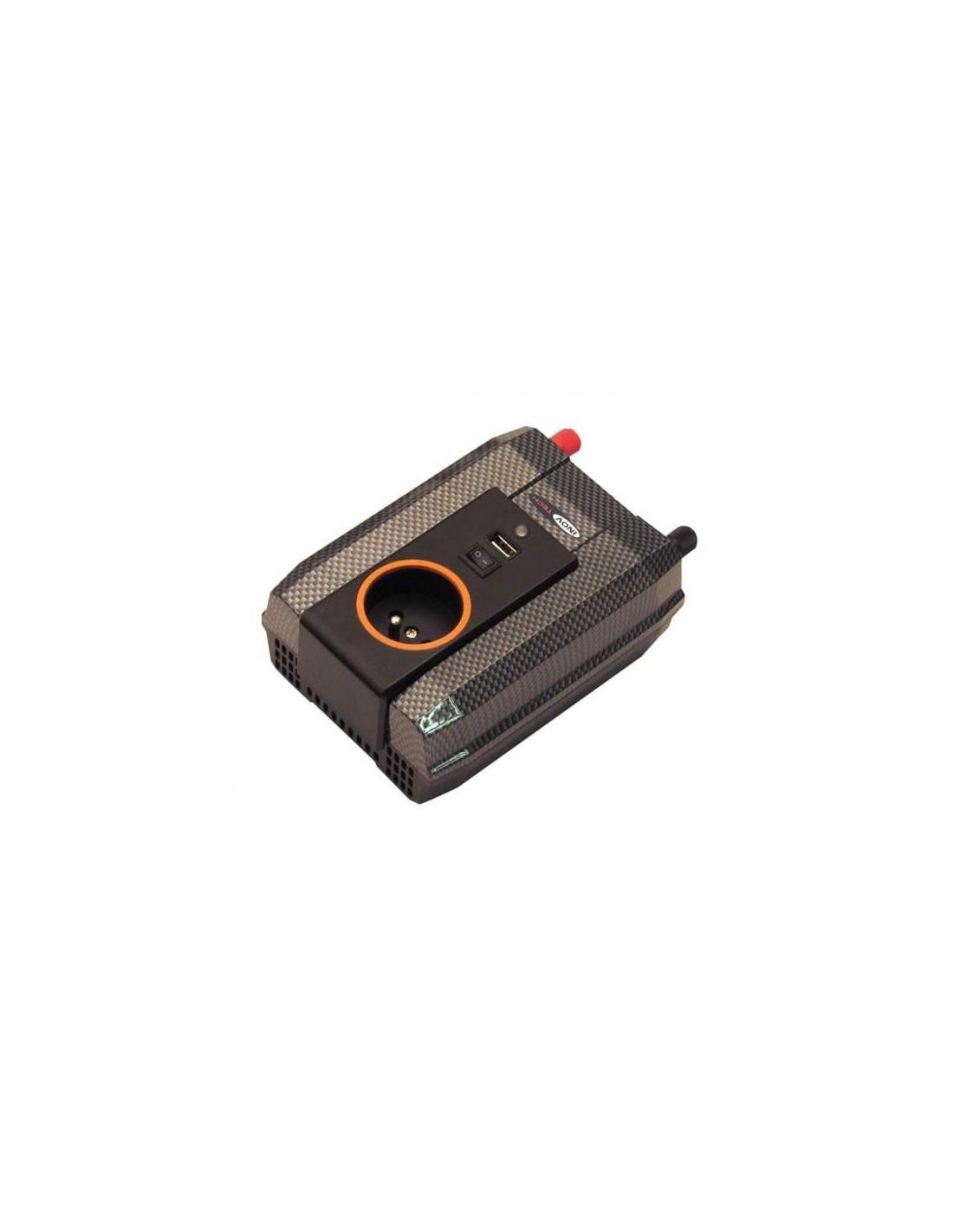 Inversor convertidor corriente 12v a 220v 400w tienda de for Transformadores de corriente 220v a 12v