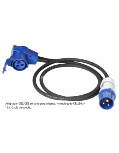 Schuko / Cetac-Adapter in 150 cm Außenbogen mit einer Dicke von 2,5 mm²