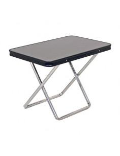 Tischset mit zwei zusammenklappbaren Crespo-Hockern