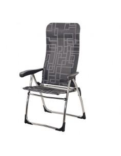 Cadeira Dobrável em Alumínio Antracite Crespo