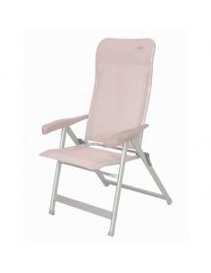 Cadeira dobrável em alumínio bege Crespo