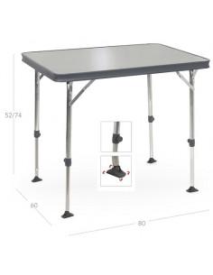 Mesa de aluminio gris oscuro 80 x 60 cm Crespo