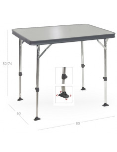 Dunkelgrauer Crespo Aluminium Tisch