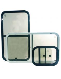 Wendefenster schwarz 400x400 mm. Boidron