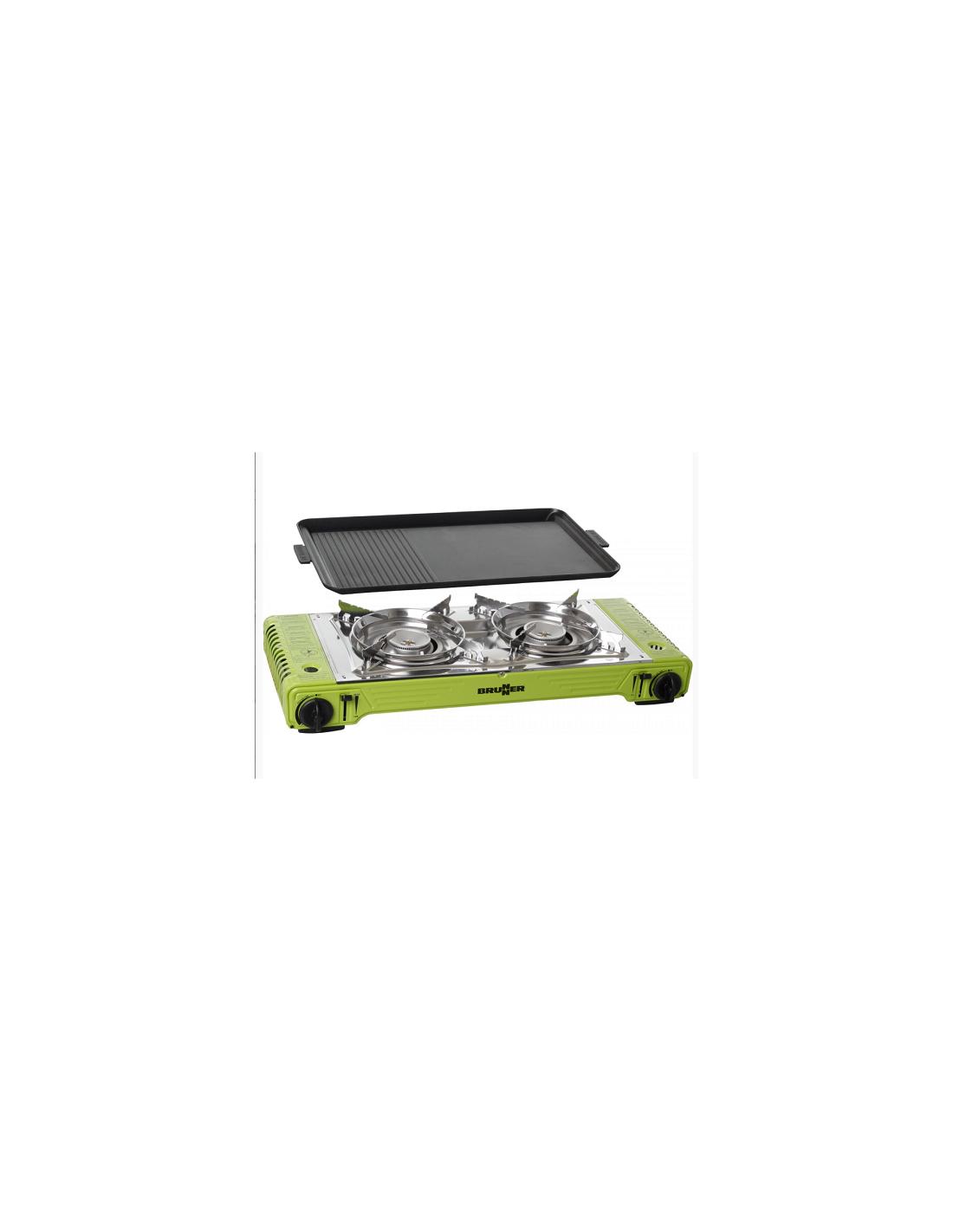 0708050N Cuisini/ère de Camping Magma Brunner 2 feux Gaz Compact Campeur Carvan Roulotte BRUNNER