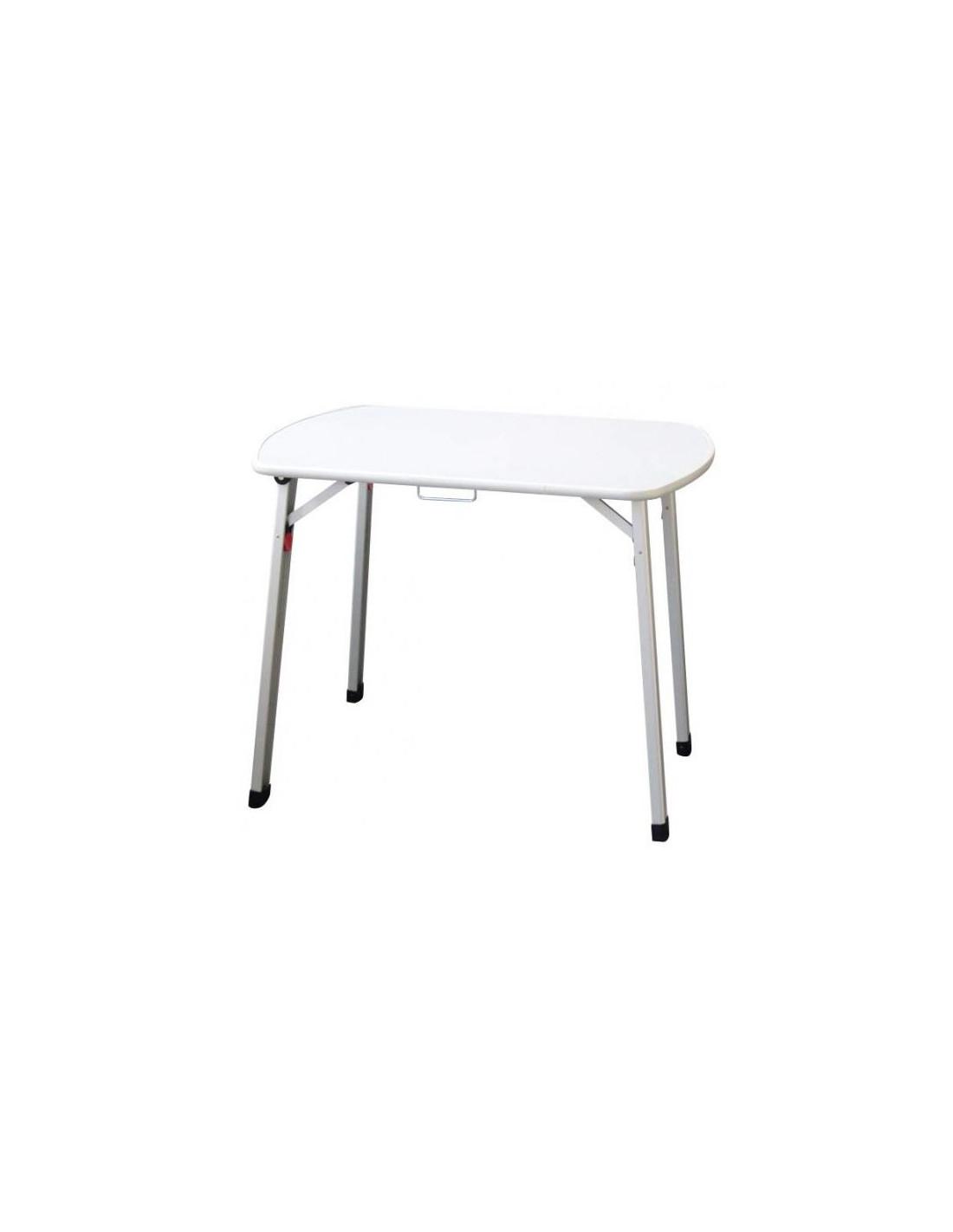 Mesa plegable en aluminio 90 cm tienda de camping online for Mesa de camping plegable de aluminio