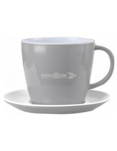 Prato e xícara de café melanina 25cl. Sandhia Brunner