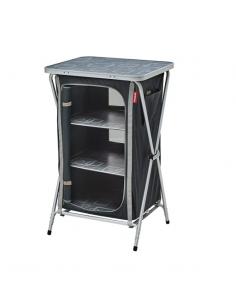 Armário de armazenamento dobrável cinza e preto